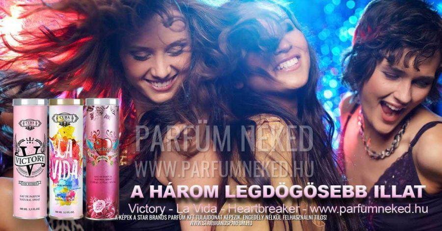 A három Legdögösebb Cuba Illat 3x100ml Cuba Parfüm Női illat