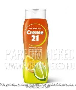 Creme21 tusfürdő ORANGE&LIME gyömbér kivonattal 250ml Creme 21