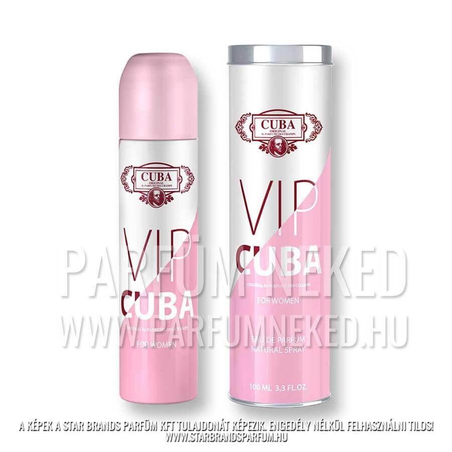 2 X Cuba VIP Eau De Perfume 100ml Cuba Parfüm Női illat