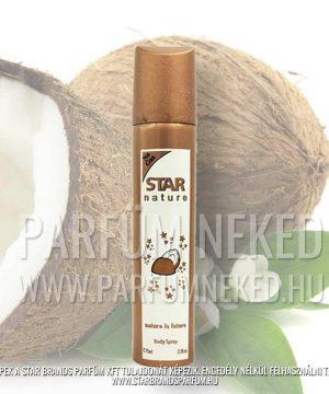 Star Nature 75 ml Kókusz illatú body spray Női parfümök