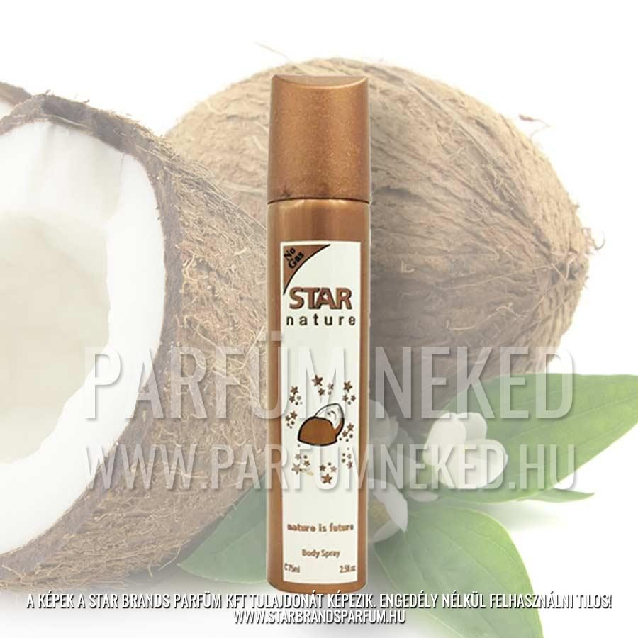 Star Nature 75 ml Kókusz illatú body spray Női parfümök