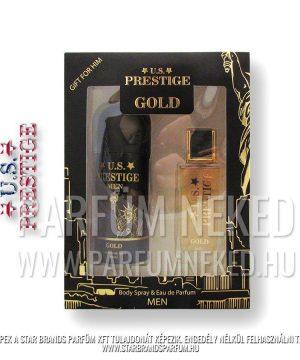U.S. Prestige Gold Men 50ml EDP 150ml Deo Dobozban Férfi parfümök