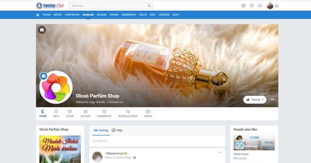 Olcsó Parfüm Shop az iWiW Club közösségben ⋆ Olcsó Parfüm Shop